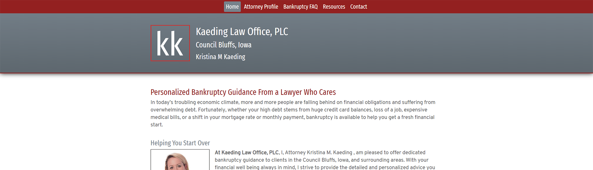 Kaeding Law Office Home Page