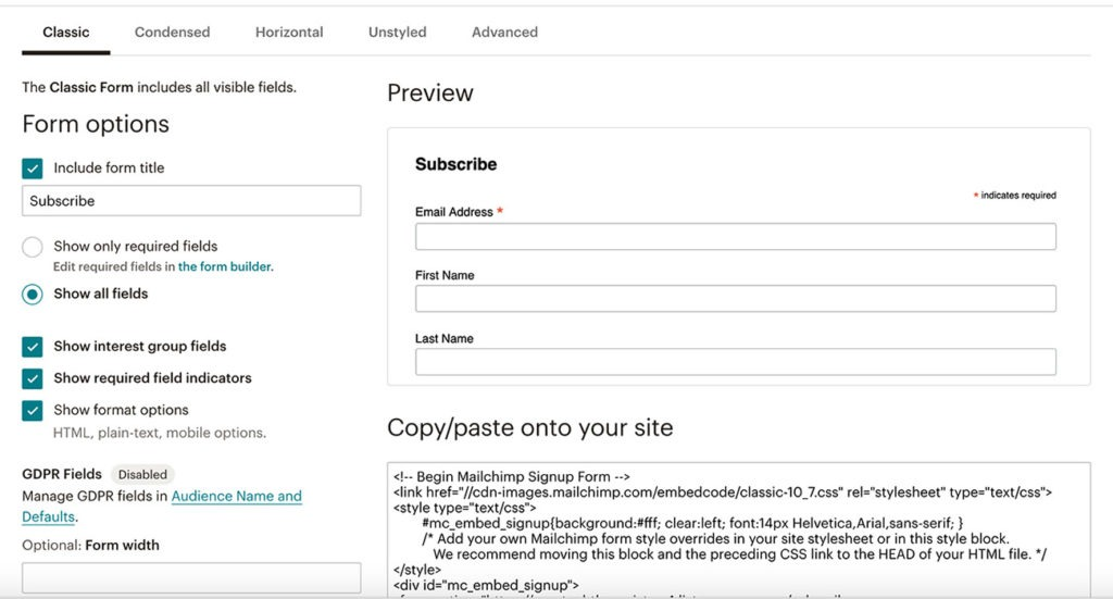 How To Use Mailchimp With WordPress 2